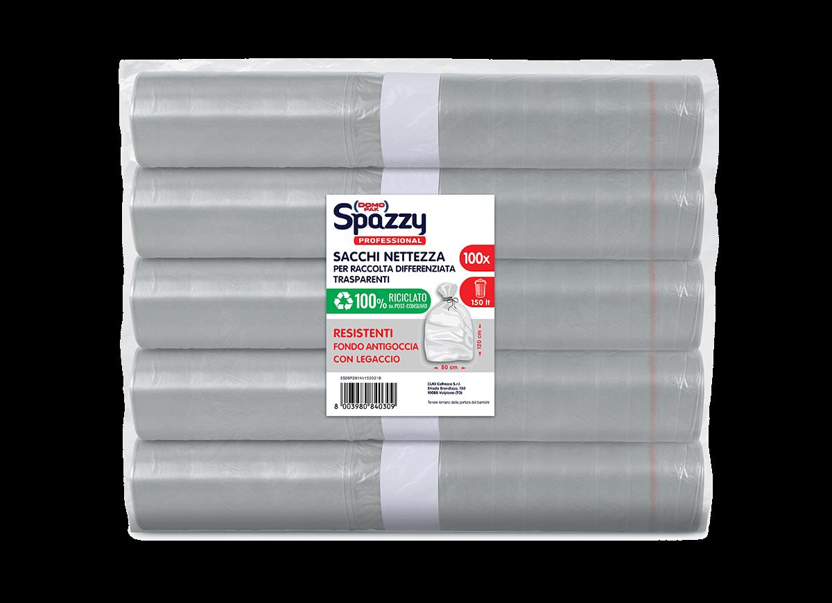 Sacchi-spazzatura-professional-fondo-antigoccia-100riciclato_trasparente-150lt_dk-spazzy